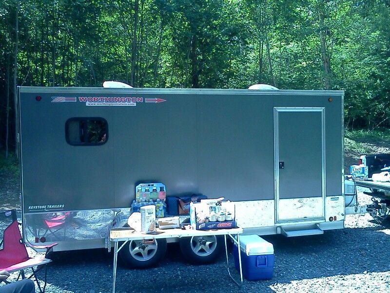 Worthington Aluminum Enclosed Cargo/Camping Trailer