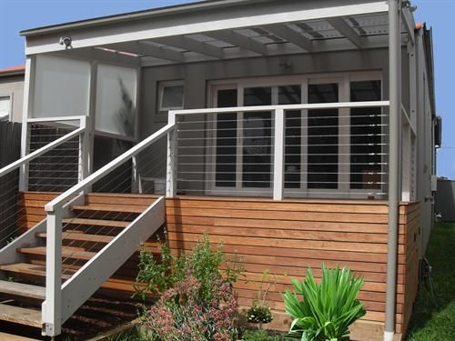 Best Stainless Steel Wire Through Timber Posts Patio Step 400 x 300