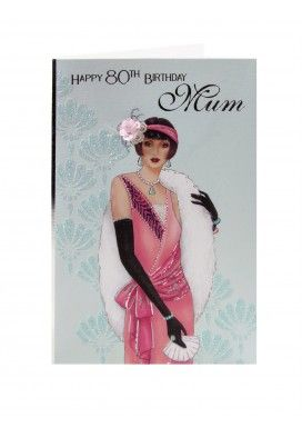 Cards Deco Page 2 Clintons Art Deco Cards Birthday Cards For Mum Happy 80th Birthday