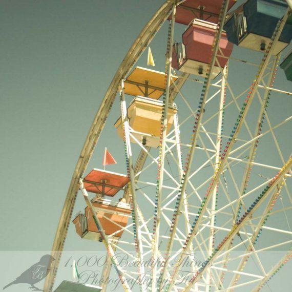 Fair Carnival Ferris Wheel Vintage Photography Fine Art Print Vintage Art Prints Art Fine Art Prints