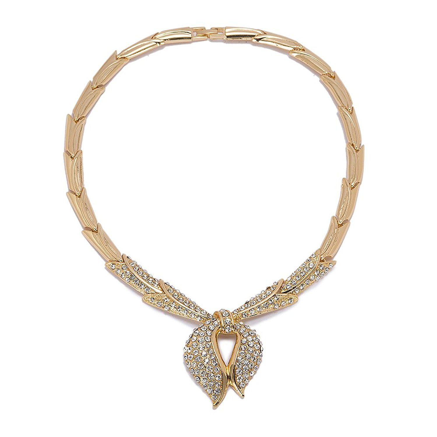 K wedding jewelry sets for bridaldubai gold plated zircon scarf