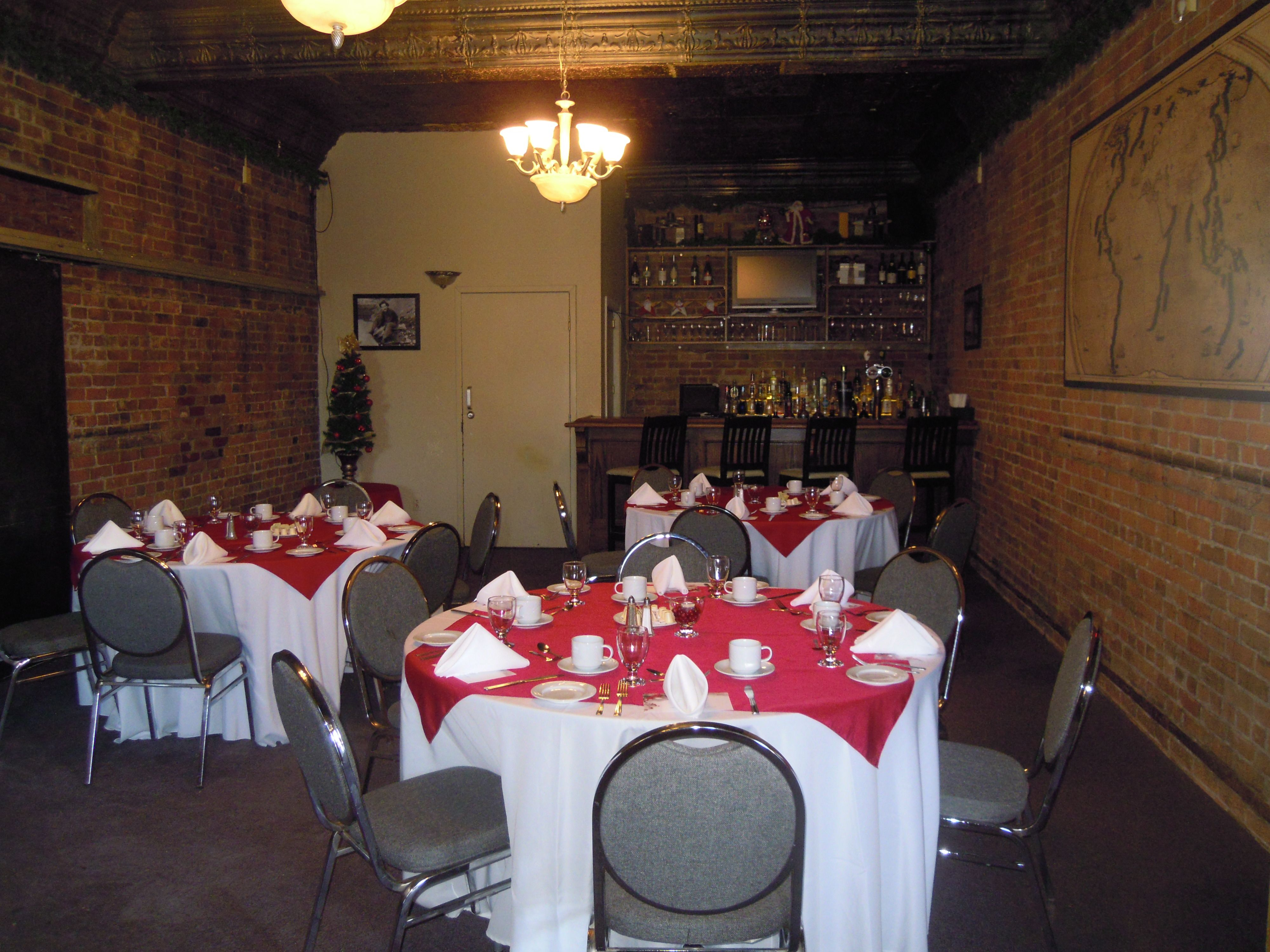 Round Function Tables Christmas Party Catering In Cecils Map Room Private Room Round
