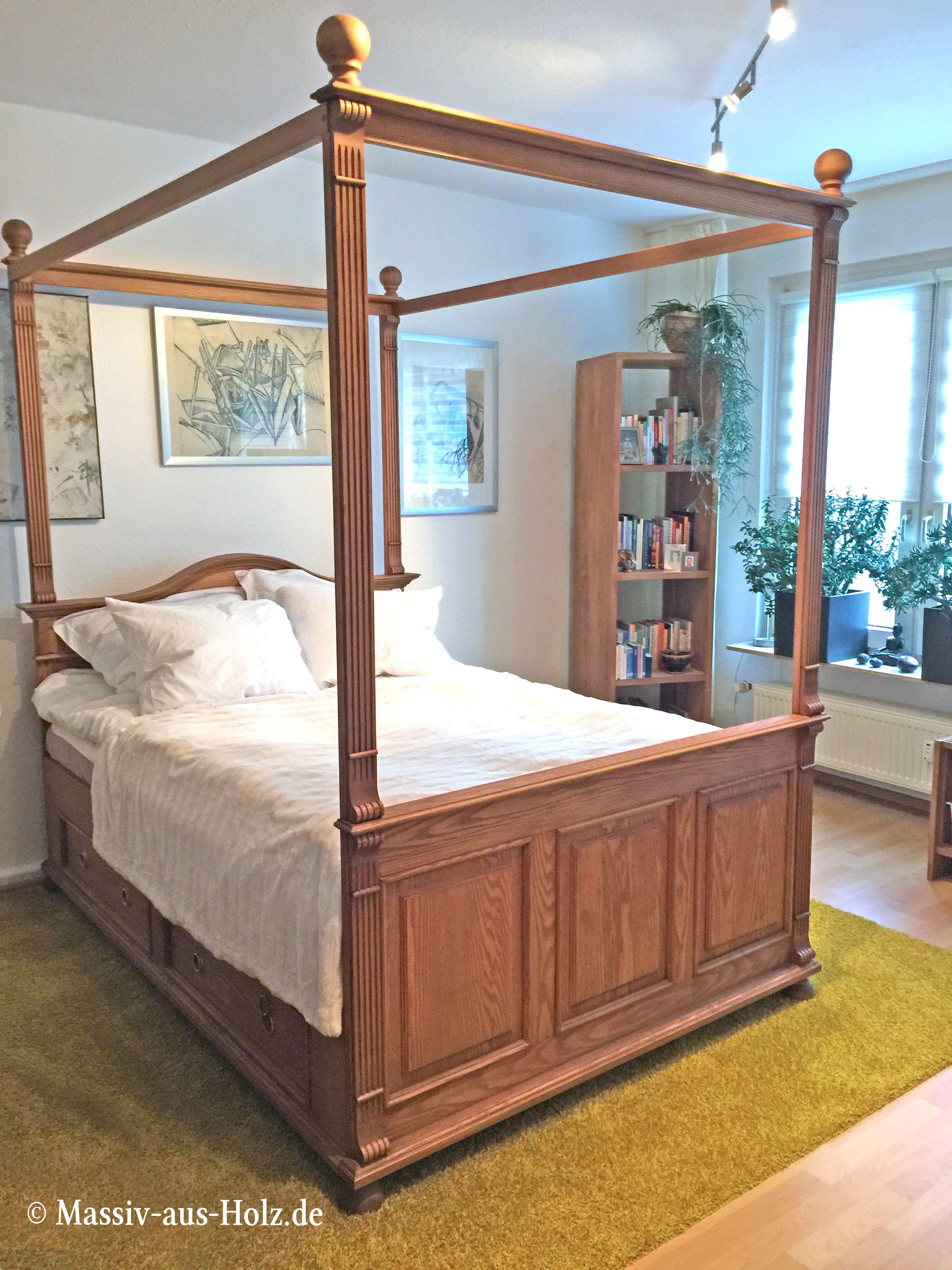 Ein Himmelbett wie aus dem Märchenland - 100% Esche massiv ...
