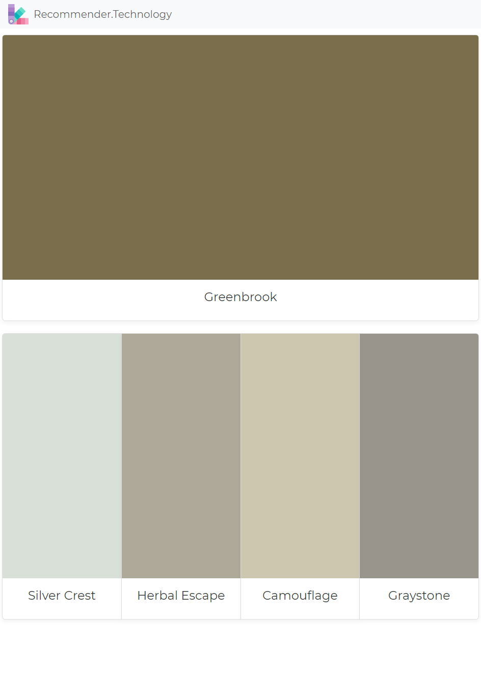 Greenbrook Silver Crest Herbal Escape Camouflage Graystone Perfect Paint Color Paint Colors Benjamin Moore Paint Color Palettes