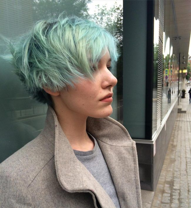 gray hair styles hairstyles 30 fresh green hair ideas mint lime emerald pastel 1430