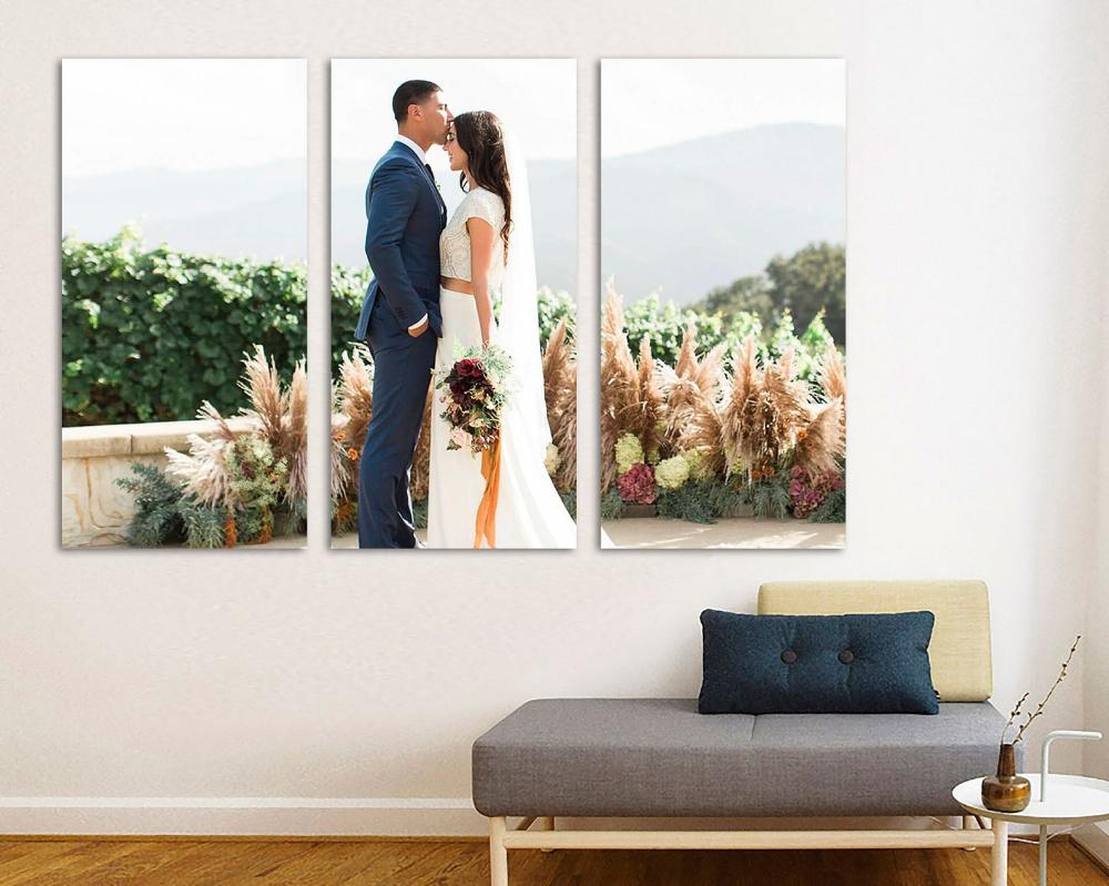 3 Panel Photo Canvas Split Custom Photo On Canvas Wall Art Etsy Canvas Photo Wall Canvas Picture Walls Wedding Picture Walls