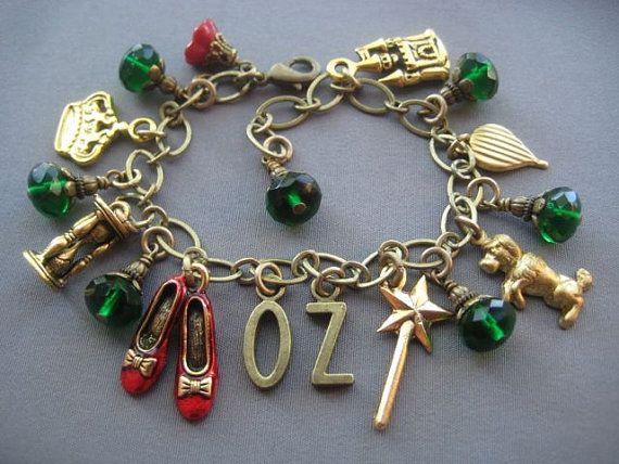 Wizard of Oz Jewelry Oz Charm Bracelet Dorothy Ruby Slippers