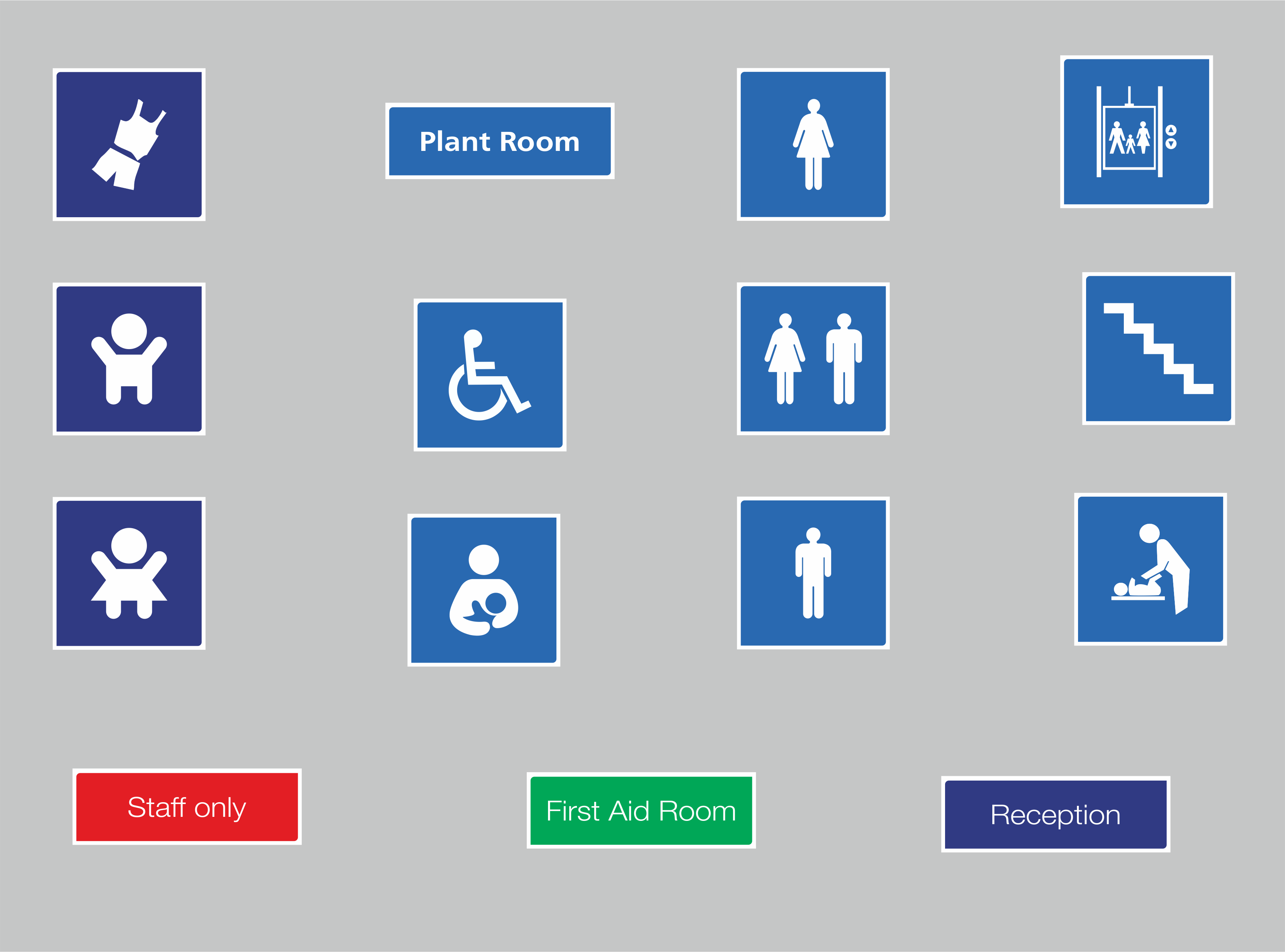 Examples of General School/Health Care Signage School