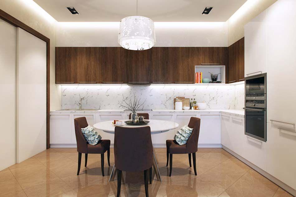 Salle manger design dans un petit appartement de ville for Cuisine conviviale