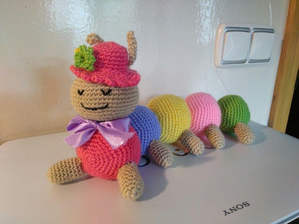 Amigurumi Caterpillar : Oruga amigurumi. patrones mil proyectos de crochet pinterest
