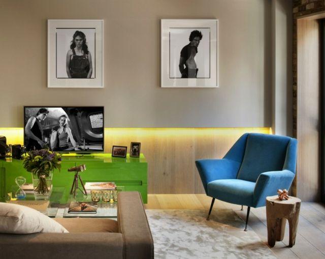 Deko Ideen Fotos Holztisch Baumstamm Sofa | Wohnideen Wohnzimmer ...