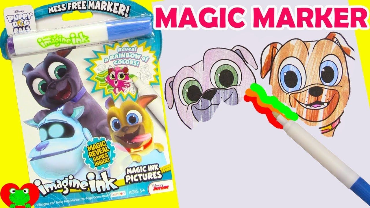 puppy dog pals imagine ink magic marker coloring pages