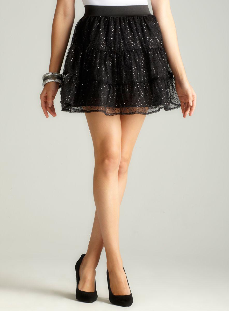 Beatrice Sequin Mesh Skirt