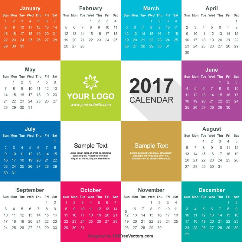 Set of 2013-2018 calendars template vector graphic 02 – over.