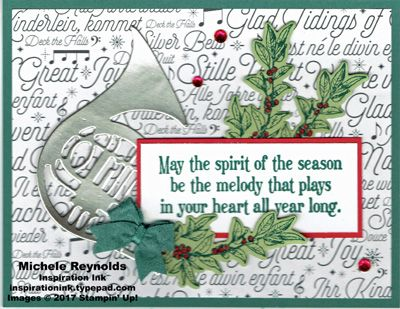 Musical Season Demo Swap handmade Christmas card using Stampin\u0027 Up