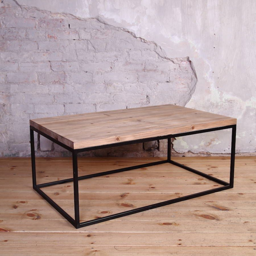Mild Steel Coffee Table: Industrial Style Coffee Table In 2019