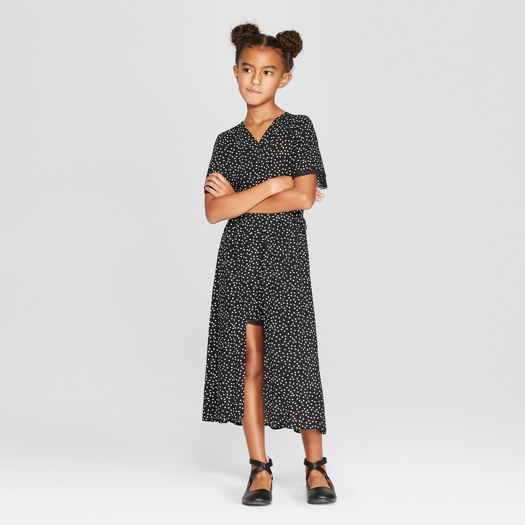 f21025e4dda4 Girls' Maxi Romper Dress - art class Black XS | Products | Romper ...