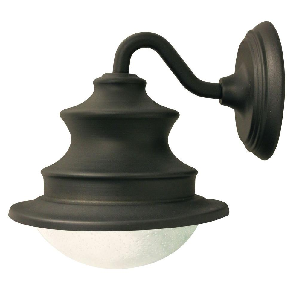 Barn Solar Brown Outdoor Integrated Led Wall Light Sconce Gs 122