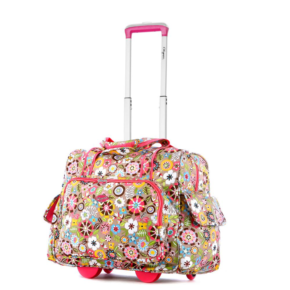 Olympia USA Fashion Tulip Rolling Overnighter with Add-A-Bag Sleeve ... acc967ce71