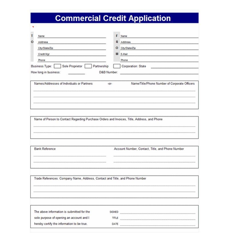 Credit Application Template credit Pinterest Templates - credit application form