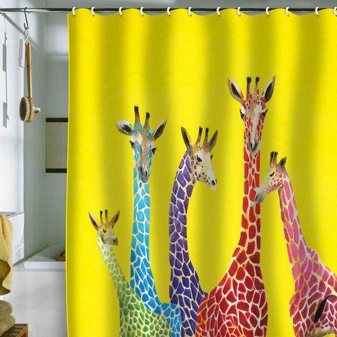 giraffe shower curtain funky shower