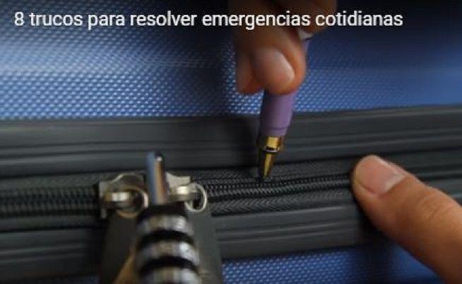 Il met la pointe d'un stylo dans la fermeture éclair de sa valise : La raison…