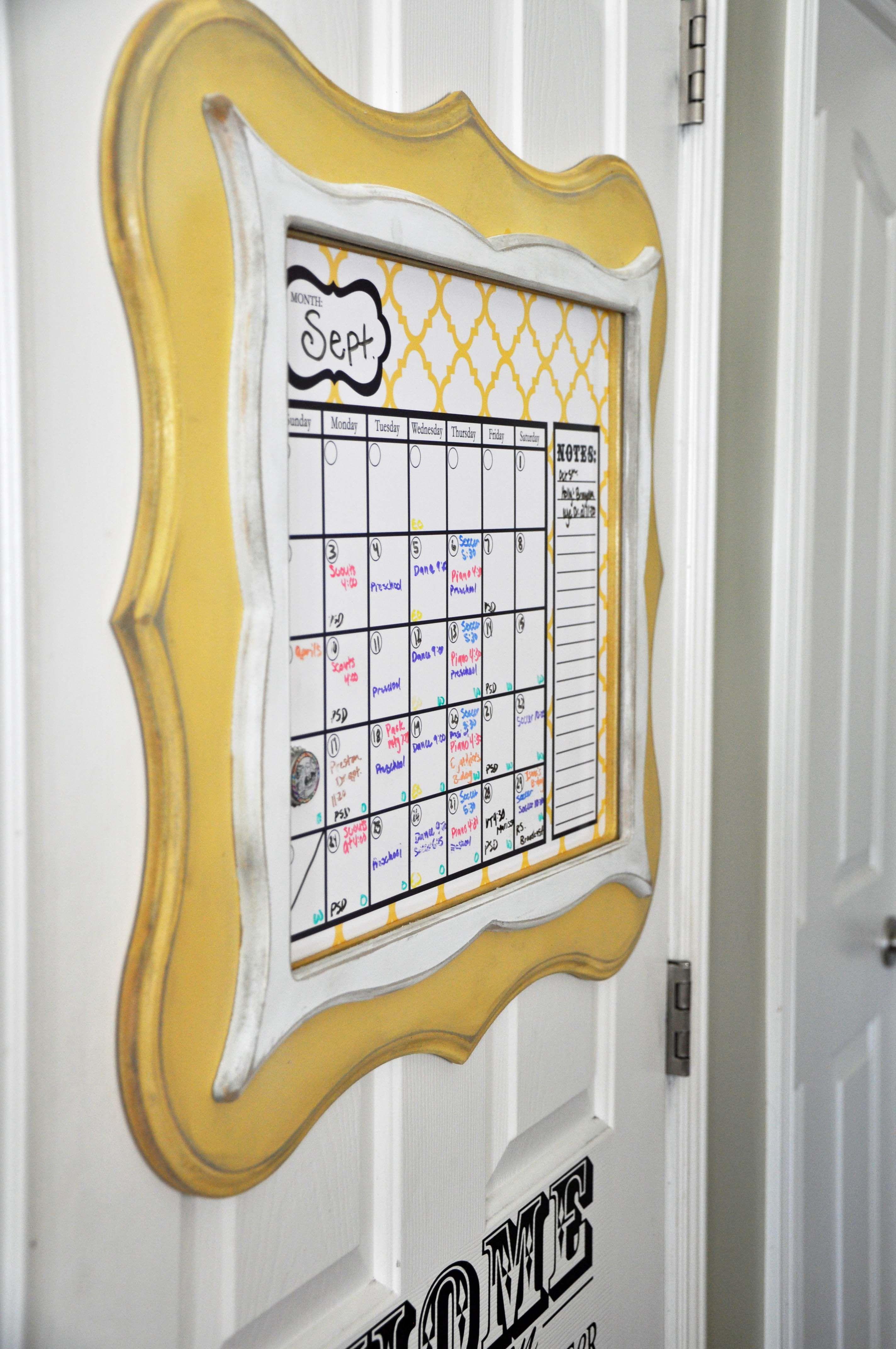 Dry Erase Calendar in the popular shaped frames | Frames, Frames ...