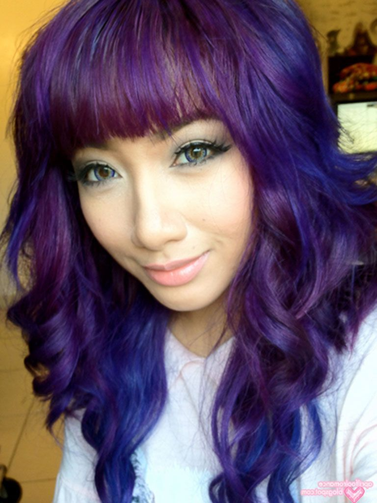 Outstanding Purple Hair And Highlights On Pinterest Short Hairstyles Gunalazisus
