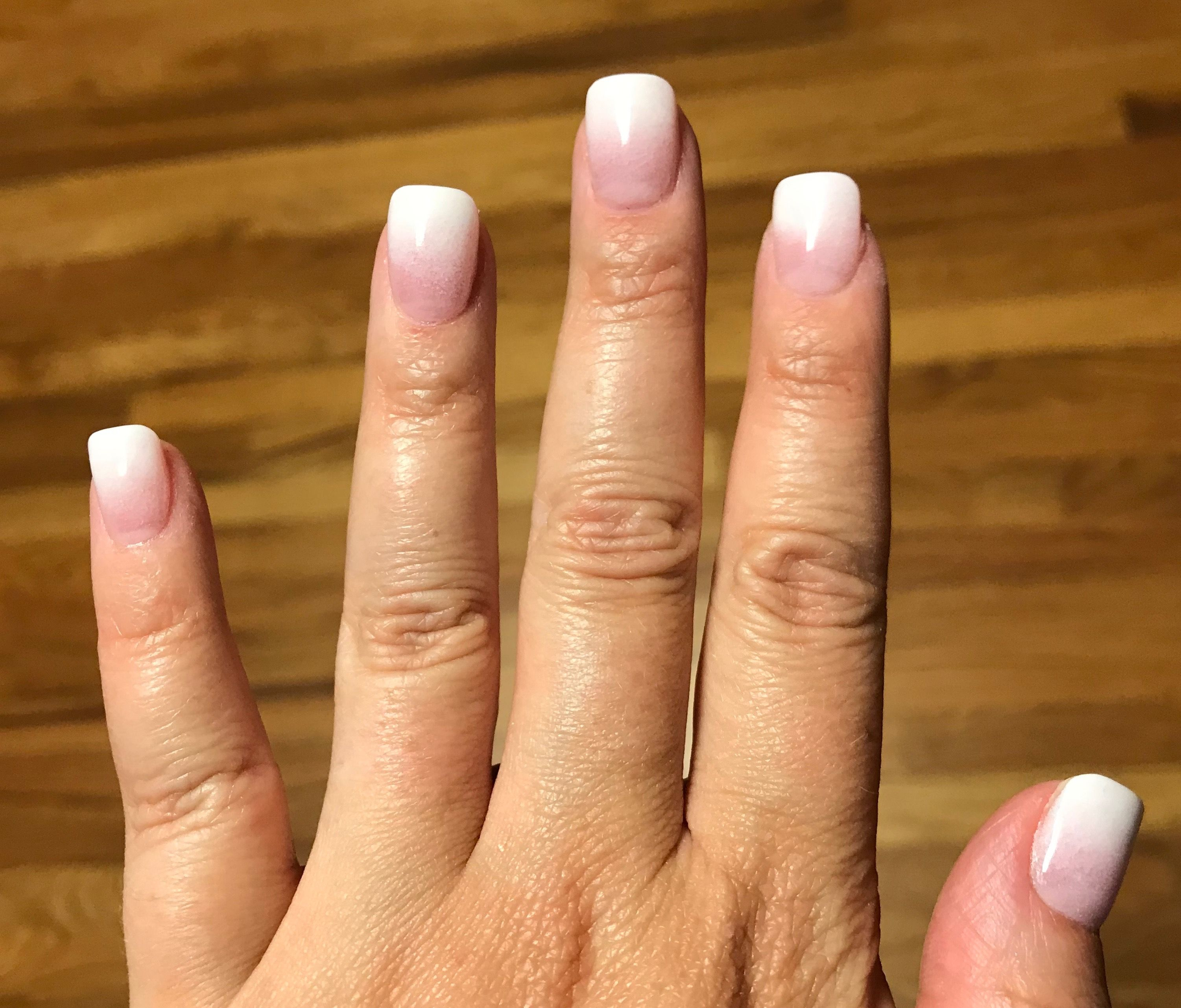 Ombre Dip Sns Pink And White Powder Nails Dip Powder Nails Pink Nails