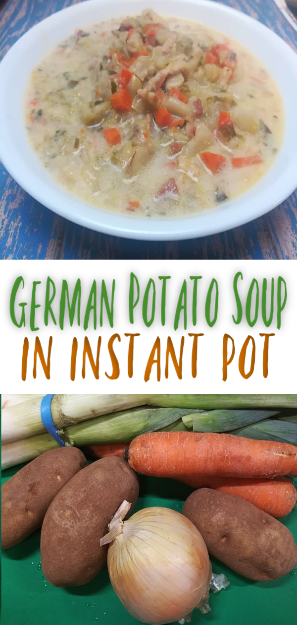 Soup in winter is a must. So every year I try and make at least 5 new soups for our family to try out.   Some are a flop and some are amazing.  So when I made this German Potato Soup in Instant Pot. #ricecookermeals