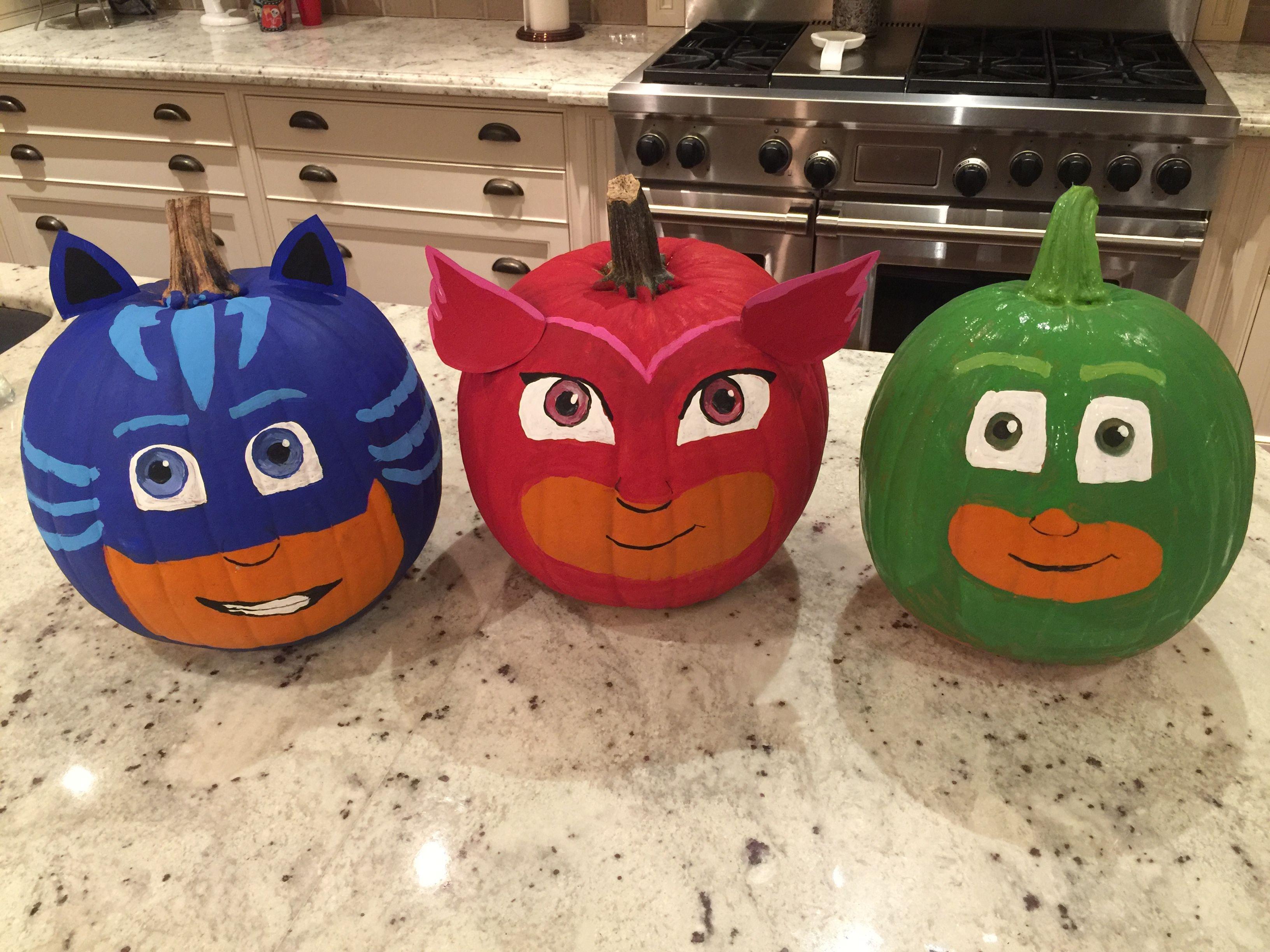 Pj Masks Halloween Pumpkins My Girls Love Pj Masks So I Decided