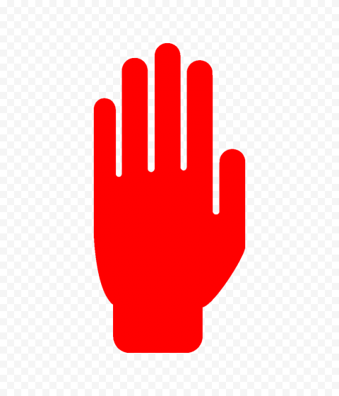 Hd Red Stop Hand Silhouette Icon Symbol Png Hand Silhouette Symbols Icon