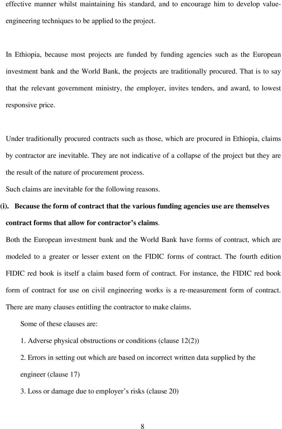 claims ethiopian construction industry pdf that say the relevant ...