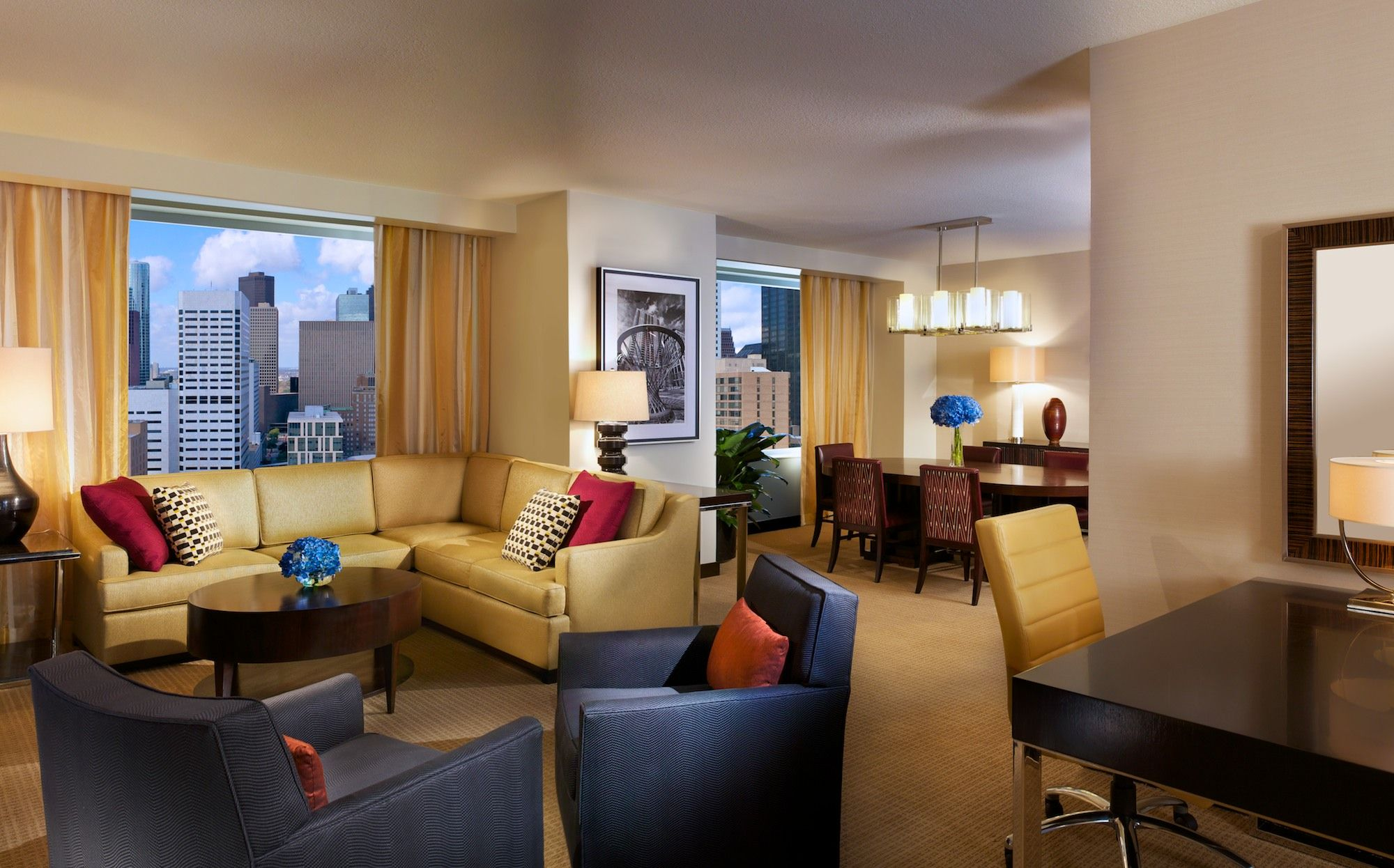 For business or for pleasure, Hilton Americas-Houston's four Presidential Suites offer comfort and luxury for VIP guests.