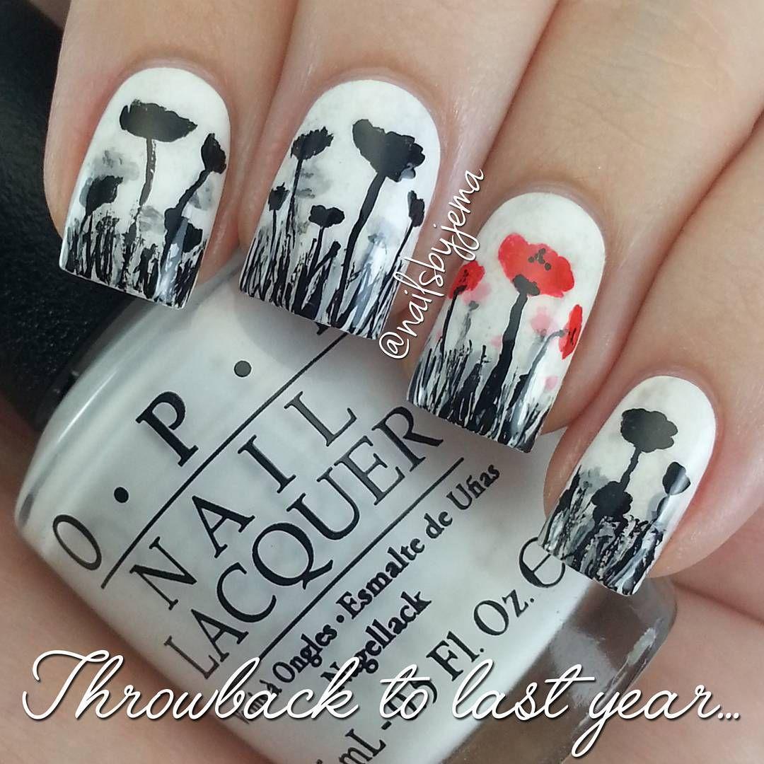 Remembrance dayveterans daypoppy day nails nail art designs