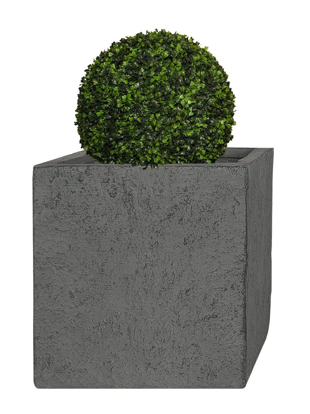 pflanzkübel cube - (lava grau) - 45cm x 55cm x 55cm | garten