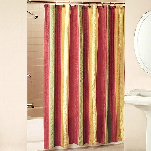 Walmart Seersucker Shower Curtain With Bonus Hooks Red Yellow