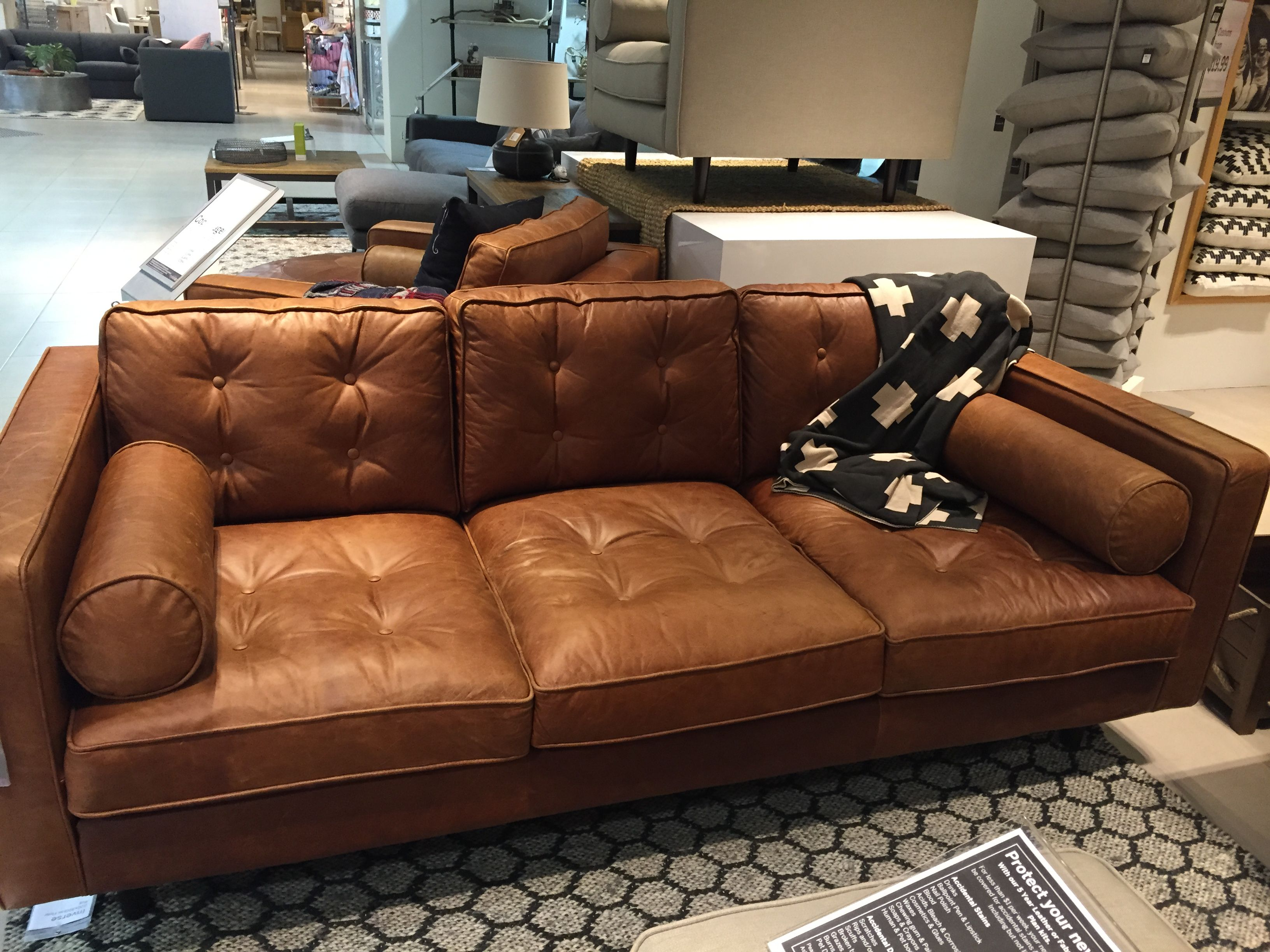 Freedom Furniture Couches Copenhagen 2 5 Tan Leather Sofa From Freedom Home Tan