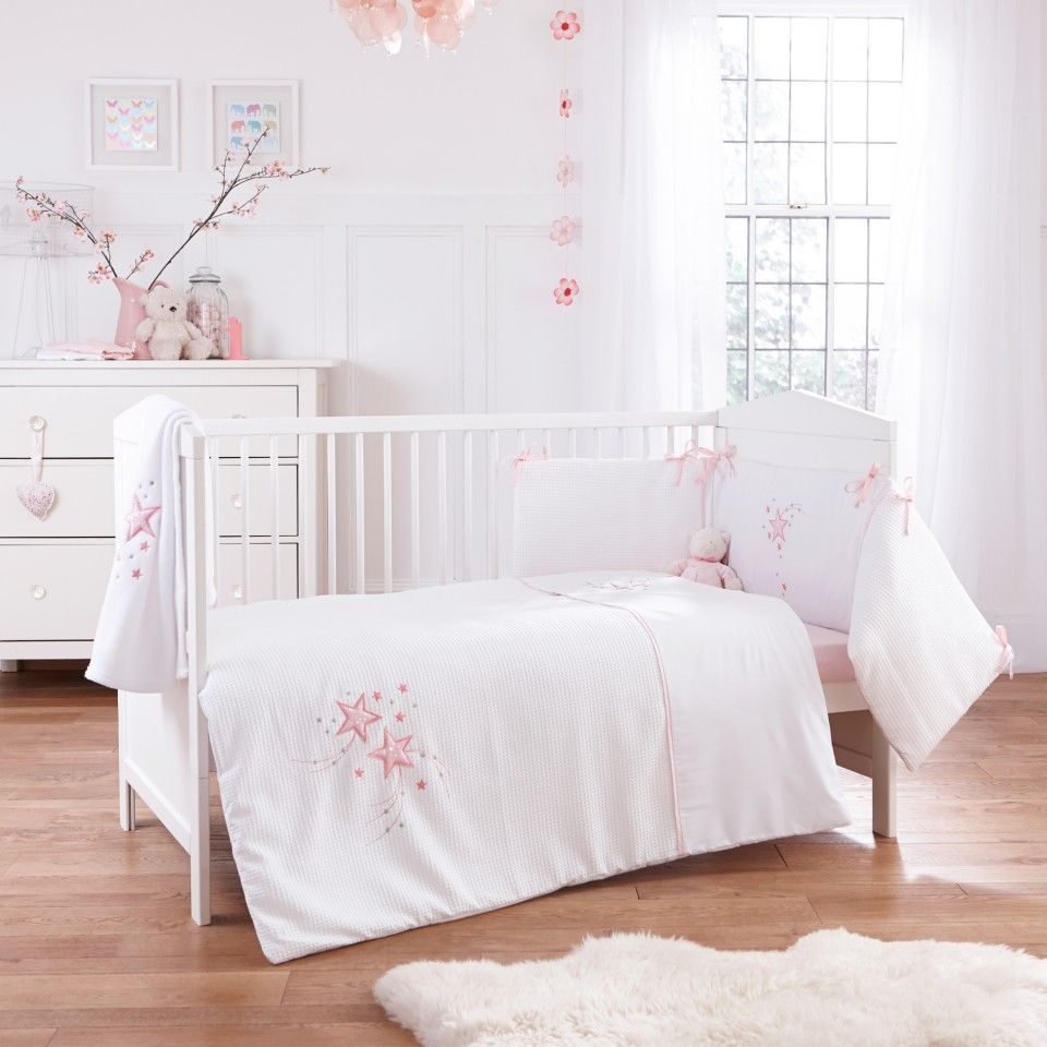 116b8452416c7 For a magical bedtime why not treat your little princess to the Clair de  Lune Cream Stardust quilt