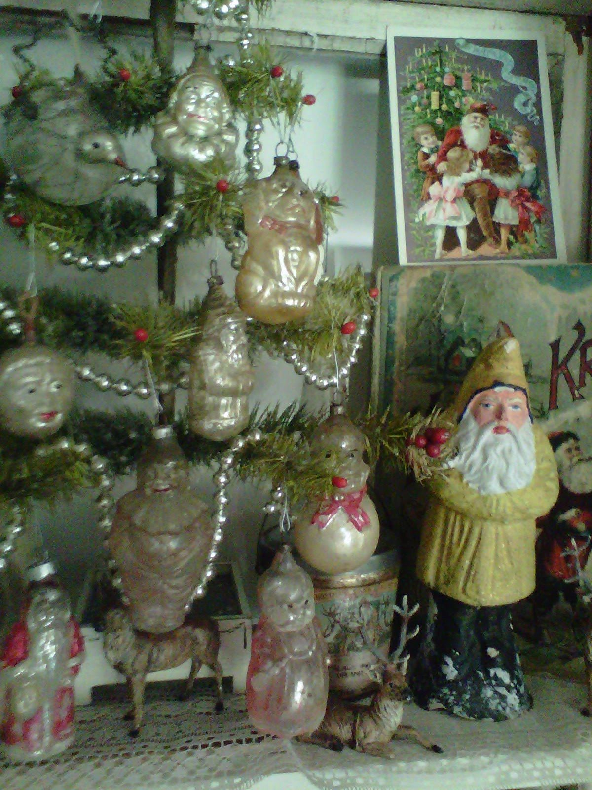 Vintage Kerstboom Antique Ornaments Vintage Kerstboom Versiering Pinterest