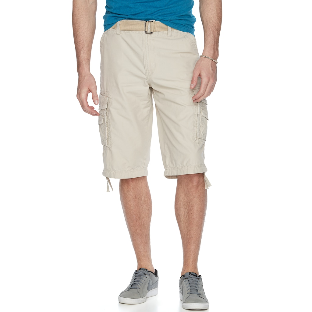 d219dafe4d Big & Tall Unionbay Cordova Messenger Belted Cargo Shorts, Men's, Size: 44,  Dark Beige