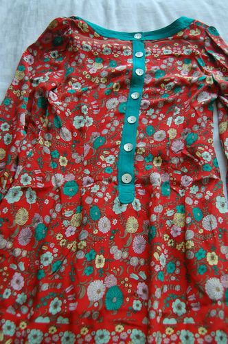 Plenty by tracy reese floral silk long sleeve dress