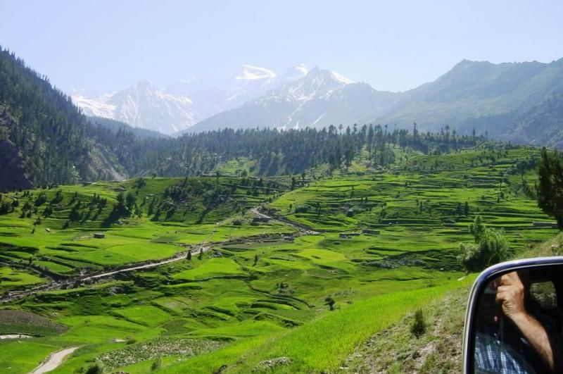 One of the most beautiful valley Astore, in the eastern side of Nanga Parbat (8126m). The valley has more than 100 villages, what makes it beautiful is its high mountains, glaciers, lakes, river and landscapes. It is about 60 km from KKH at an elevation of 2600m.
