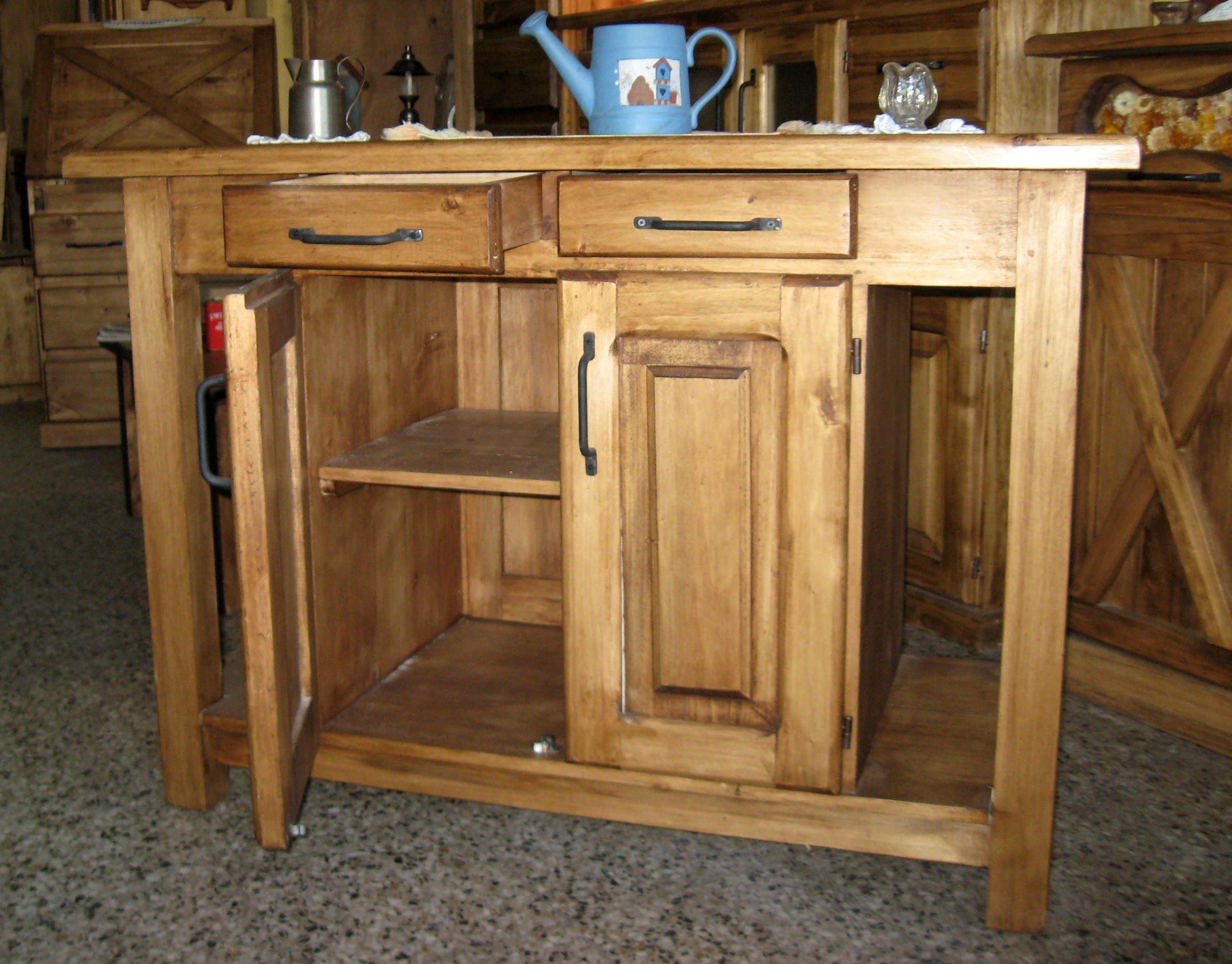 Isla para cocina estilo campo decoracion pinterest for Muebles estilo rustico