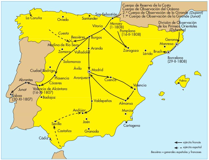 Tratado de Fontainebleau 1808 se acordaba la invasin de Portugal