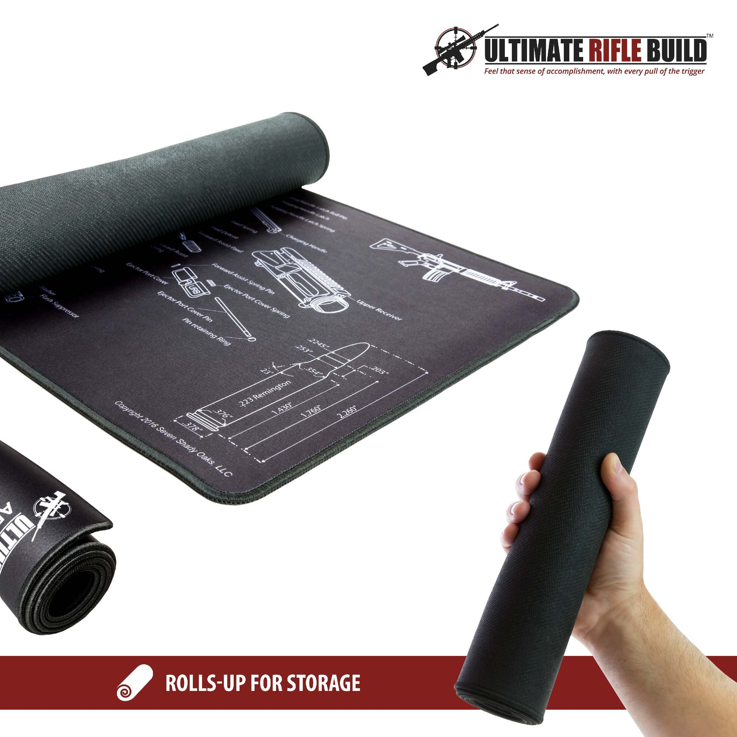 hight resolution of xlarge ar15 gun cleaning mat with exploded parts diagram