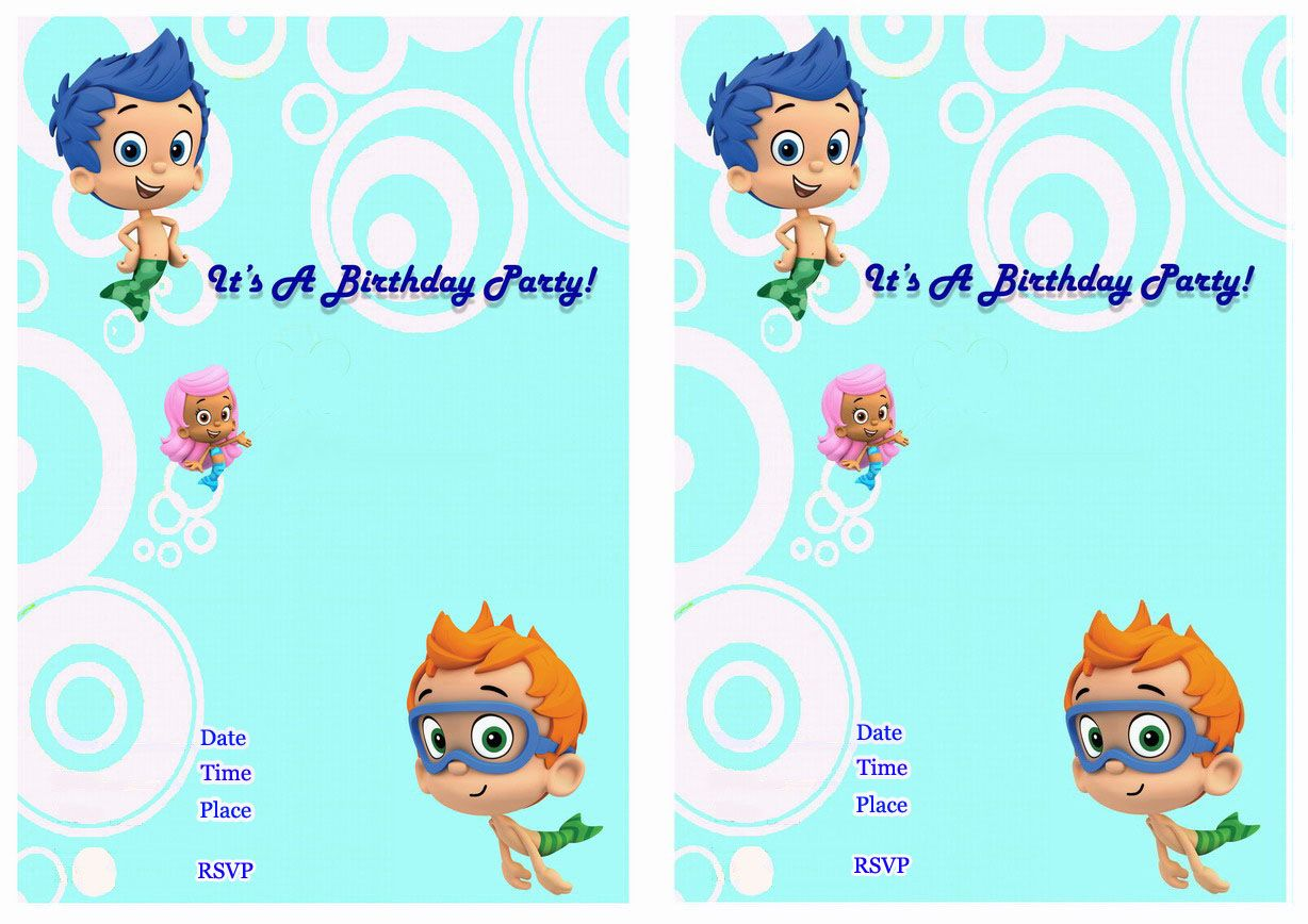 Bubble Guppies Birthday Invitations   Bubble guppies birthday