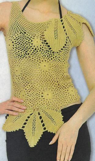 crochet top in Turkish