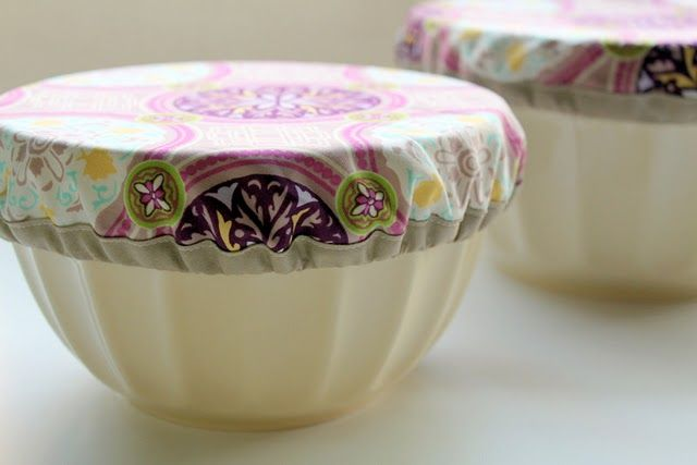 DIY bowl covers. Buh-bye plastic wrap! Sooooooo cool!