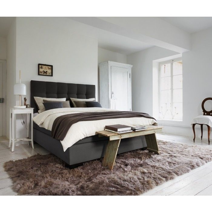 boxspring bett arosa komfortables boxspring bett mit matratze und kopfteil das prinzip ist. Black Bedroom Furniture Sets. Home Design Ideas